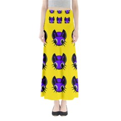 Blue and yellow fireflies Maxi Skirts