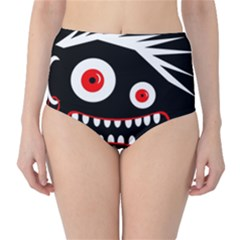 Crazy monster High-Waist Bikini Bottoms