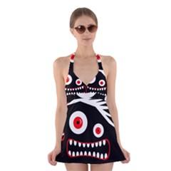 Crazy monster Halter Swimsuit Dress