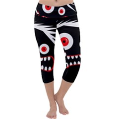 Crazy monster Capri Yoga Leggings