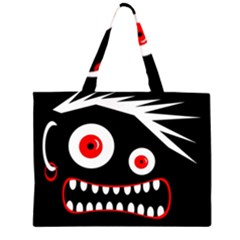 Crazy monster Large Tote Bag
