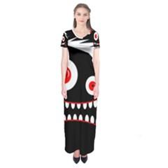 Crazy monster Short Sleeve Maxi Dress
