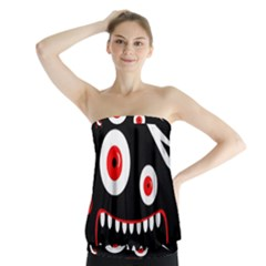 Crazy monster Strapless Top