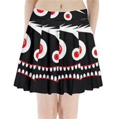 Crazy monster Pleated Mini Mesh Skirt