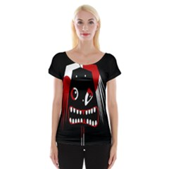 Zombie face Women s Cap Sleeve Top