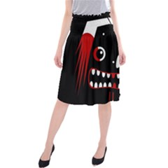 Zombie face Midi Beach Skirt