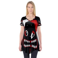 Zombie Face Short Sleeve Tunic