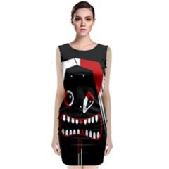 Zombie face Classic Sleeveless Midi Dress