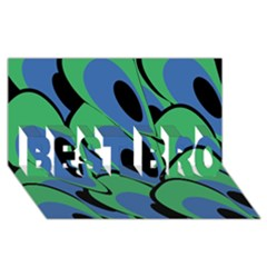 Peacock pattern BEST BRO 3D Greeting Card (8x4)
