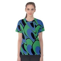 Peacock pattern Women s Cotton Tee