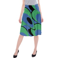 Peacock pattern Midi Beach Skirt