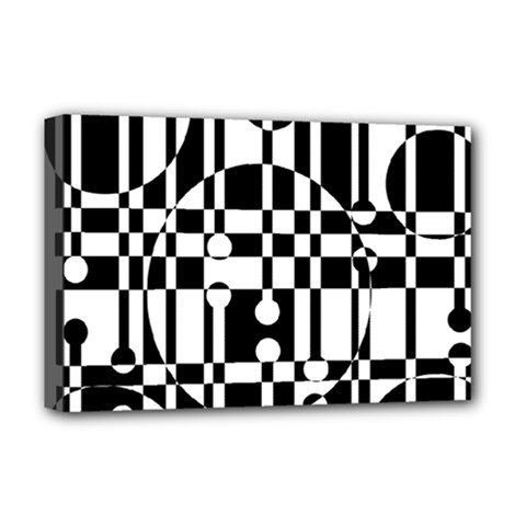 Black and white pattern Deluxe Canvas 18  x 12