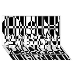 Black And White Pattern #1 Mom 3d Greeting Cards (8x4)