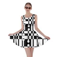 Black and white pattern Skater Dress