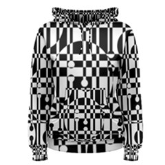 Black and white pattern Women s Pullover Hoodie