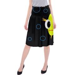 Yellow Fish Midi Beach Skirt