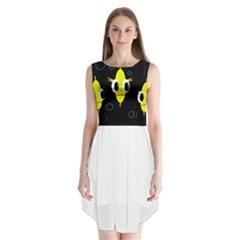 Yellow fish Sleeveless Chiffon Dress
