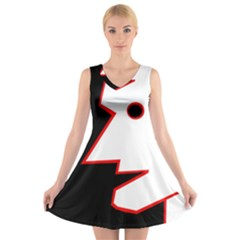 Man V Neck Sleeveless Skater Dress