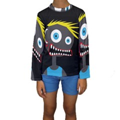 Crazy man Kid s Long Sleeve Swimwear