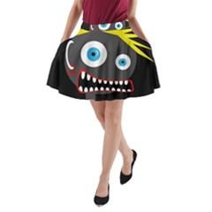 Crazy man A-Line Pocket Skirt