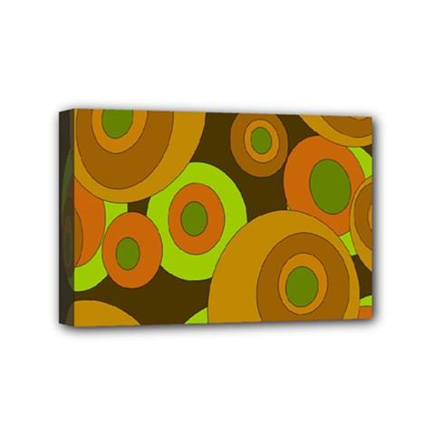 Brown pattern Mini Canvas 6  x 4