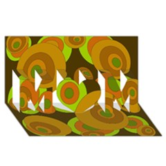 Brown pattern MOM 3D Greeting Card (8x4)