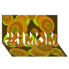 Brown pattern #1 MOM 3D Greeting Cards (8x4)