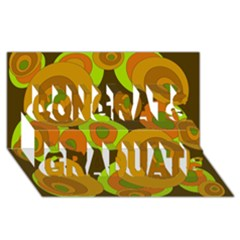 Brown pattern Congrats Graduate 3D Greeting Card (8x4)
