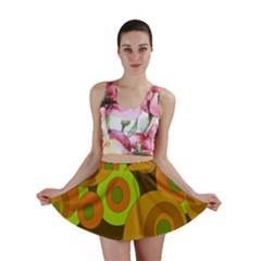 Brown pattern Mini Skirt
