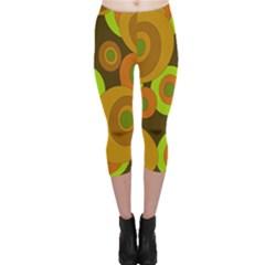 Brown pattern Capri Leggings