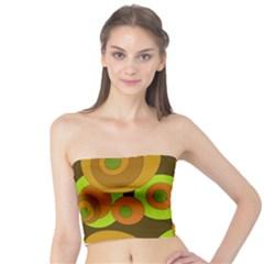 Brown pattern Tube Top