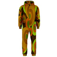 Brown pattern Hooded Jumpsuit (Men)