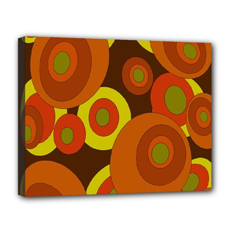 Orange pattern Canvas 14  x 11