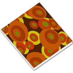 Orange pattern Small Memo Pads