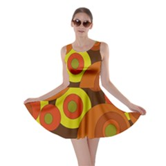 Orange pattern Skater Dress