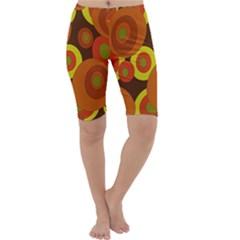 Orange pattern Cropped Leggings