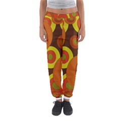 Orange Pattern Women s Jogger Sweatpants