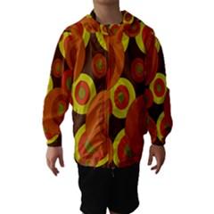 Orange Pattern Hooded Wind Breaker (kids)