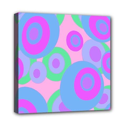 Pink pattern Mini Canvas 8  x 8