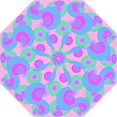 Pink pattern Folding Umbrellas