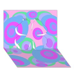Pink pattern Clover 3D Greeting Card (7x5)