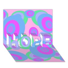 Pink pattern HOPE 3D Greeting Card (7x5)