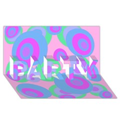 Pink pattern PARTY 3D Greeting Card (8x4)