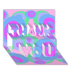 Pink pattern THANK YOU 3D Greeting Card (7x5)