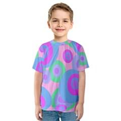 Pink pattern Kid s Sport Mesh Tee