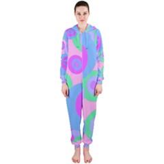 Pink pattern Hooded Jumpsuit (Ladies)