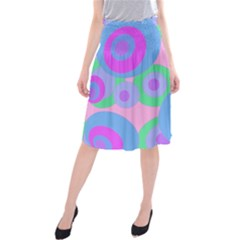 Pink pattern Midi Beach Skirt