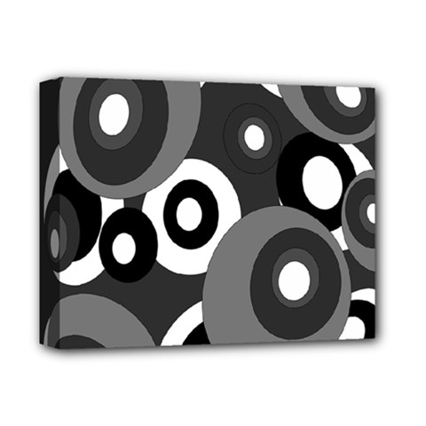 Gray pattern Deluxe Canvas 14  x 11