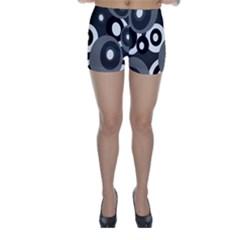 Gray Pattern Skinny Shorts