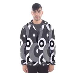 Gray pattern Hooded Wind Breaker (Men)